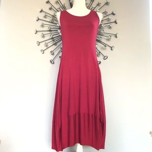 Eileen Fisher red dress